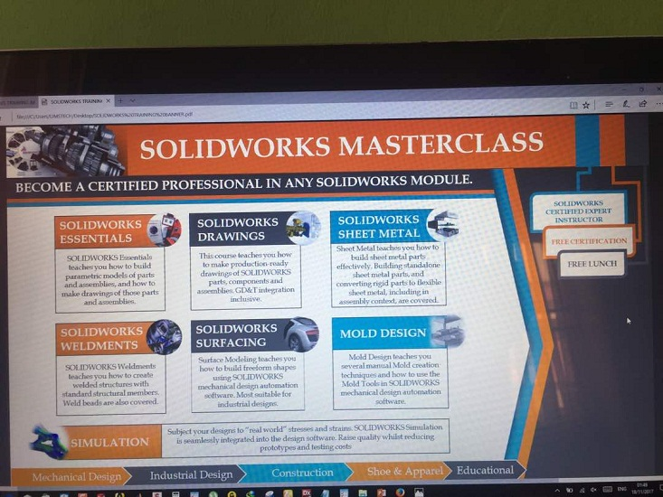 Certified Solidworks Training Center in Nigeria